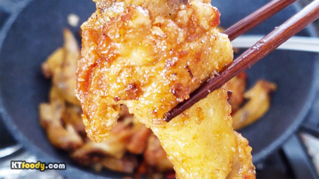 Fish sauce wings recipe showing fried wing