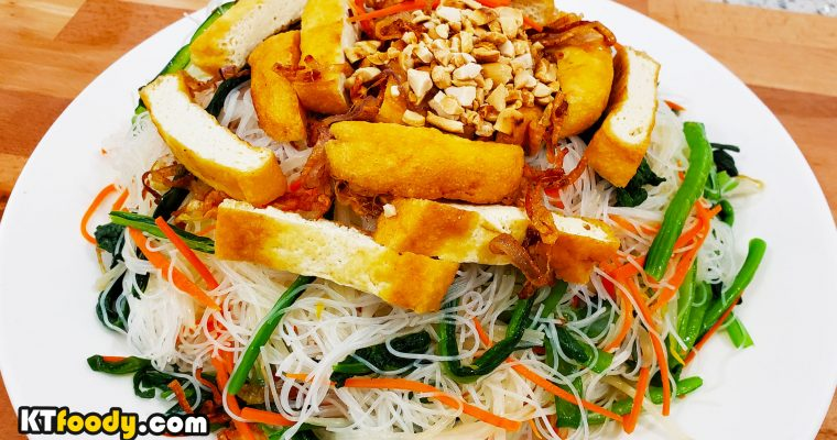 Vegan Tossed Rice Noodle Recipe – Healthy and Addictive