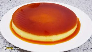 Flan - caramel flan from small glass dishes
