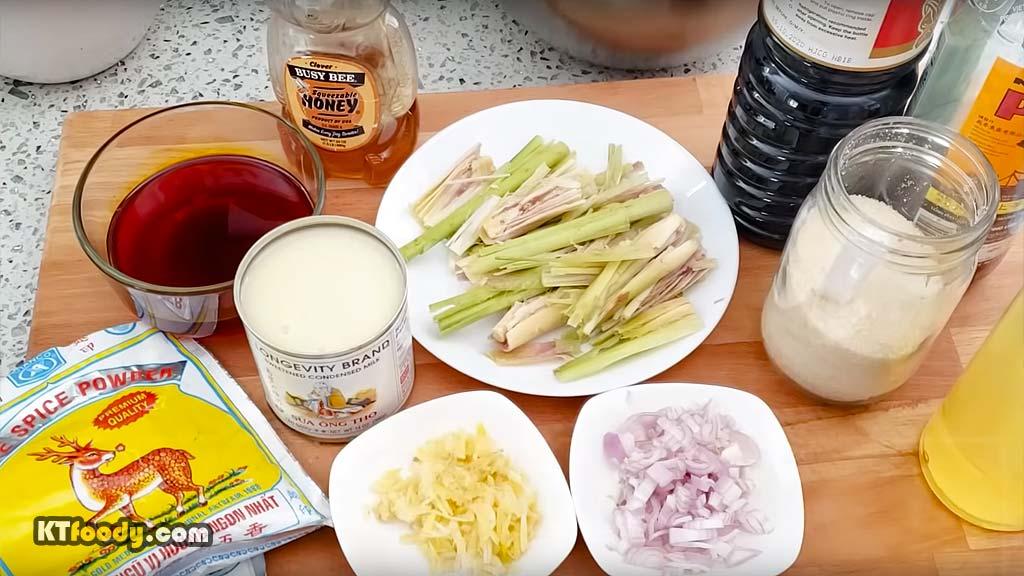 Grilled pork ingredients
