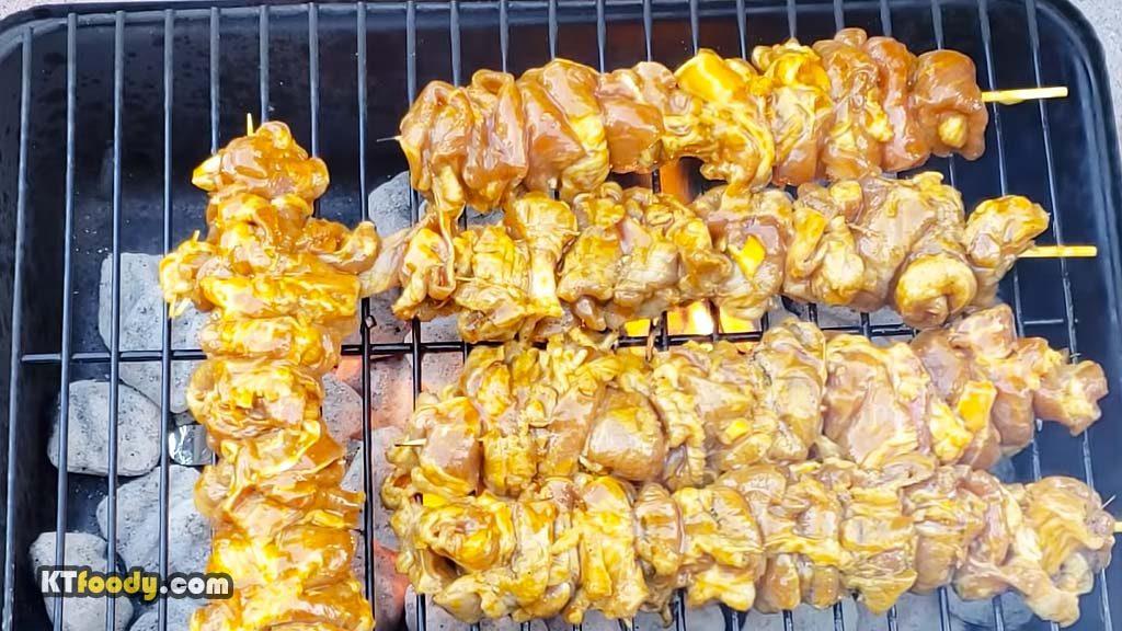 Grilled Pork - Grilling meat