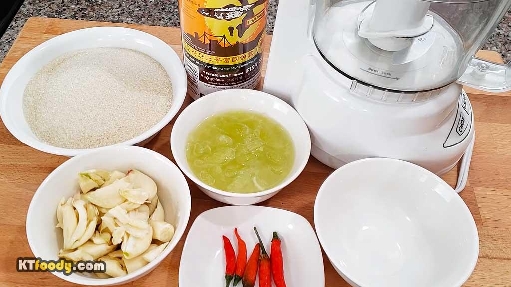 Viet Dipping Sauce - ingredients