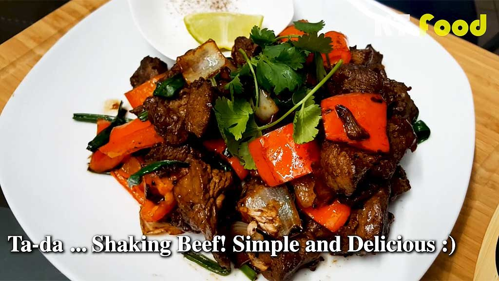 Shaking Beef plated dish