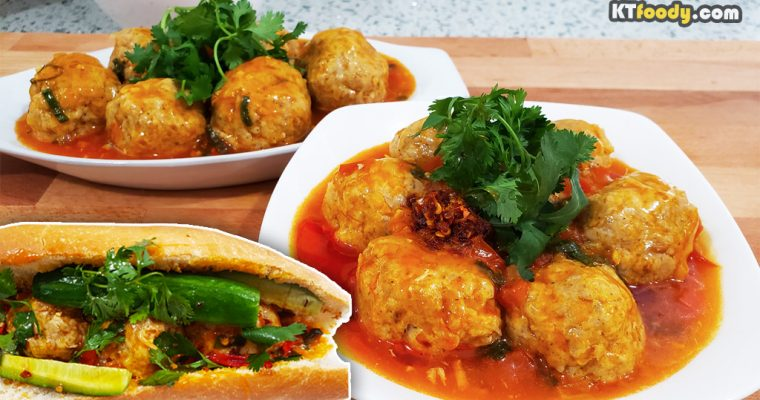 Xiu Mai Meatball Recipe for Banh Mi