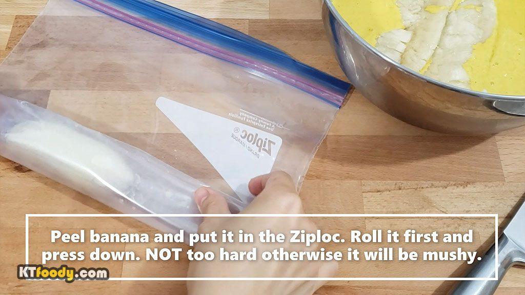 fried banana rolling banana