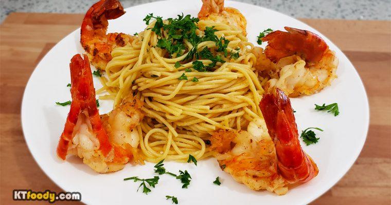 Shrimp Garlic Noodle Recipe (Restaurant Style)